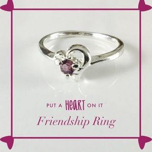 PassionKids Accessories - Purple Heart CZ Friendship Ring